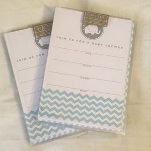 Gardner Baby shower invitations. 2 packages